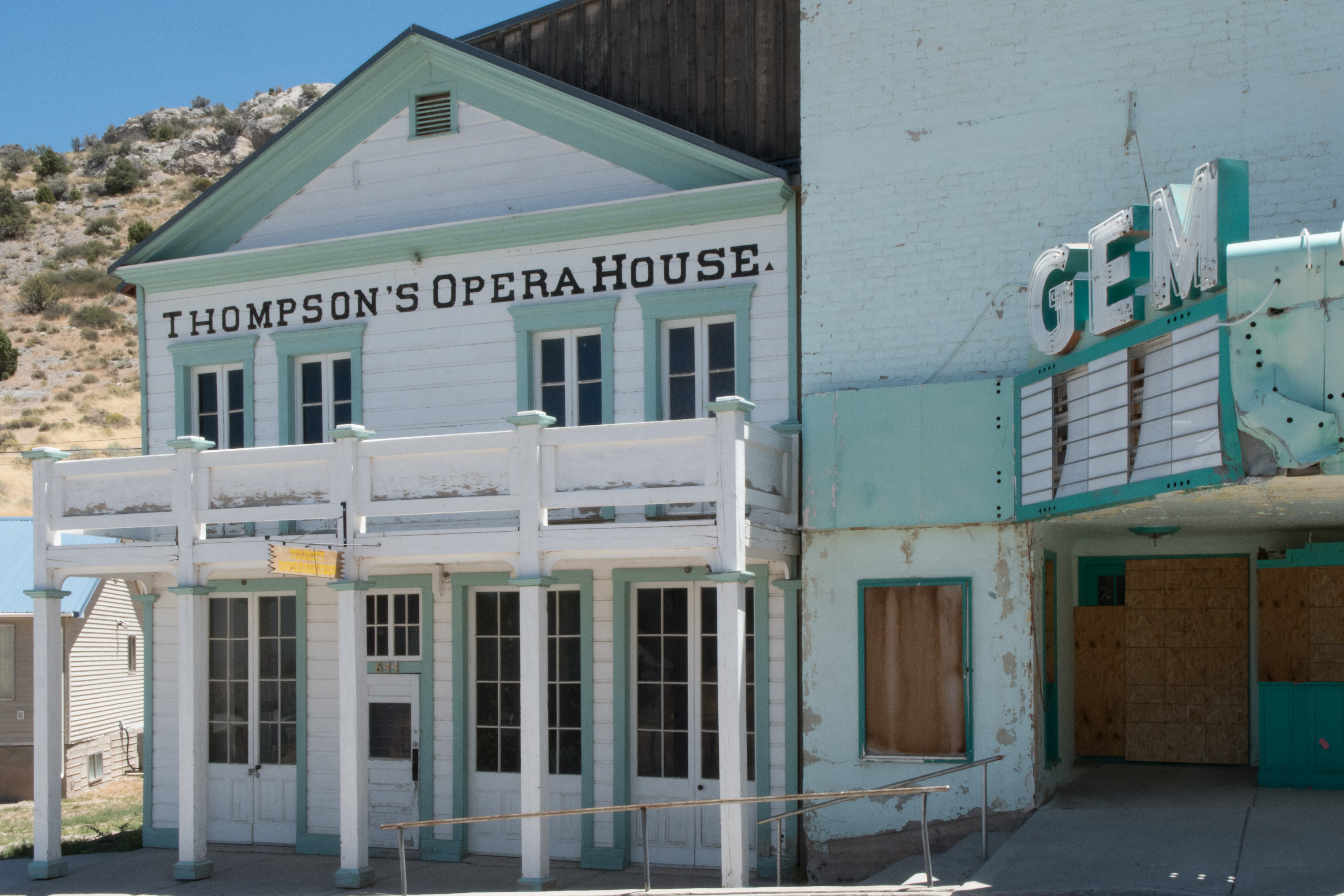Thompsons Opera House, Pioche, Nevada, July 2016 | Photo by Jim Lillywhite, St. George News