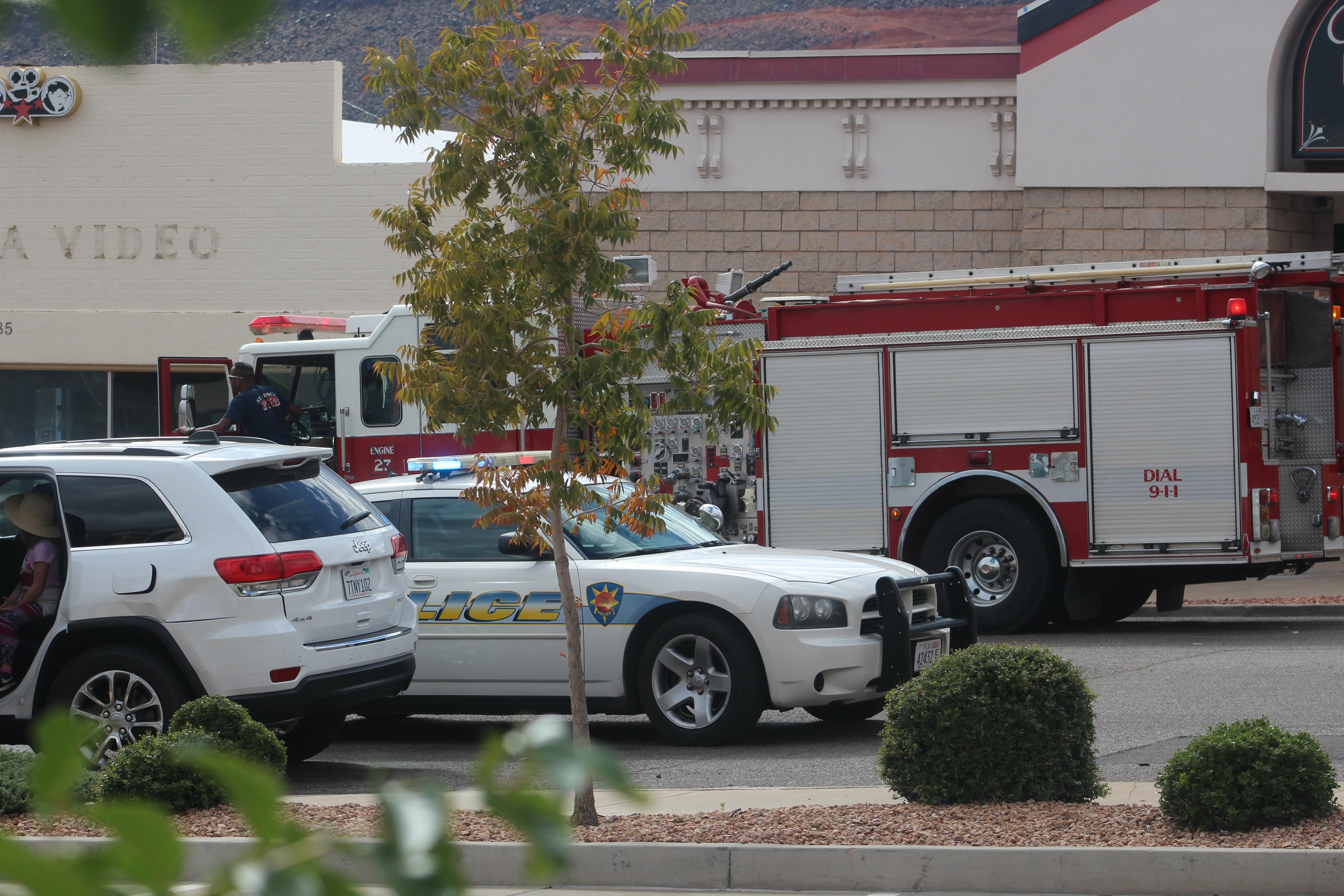 Emergency personnel respond to a two-car collision on St. George Boulevard and 100 East Wednesday afternoon, St. George, Utah, Sept. 28, 2016 | Photo by Cody Blowers, St. George News