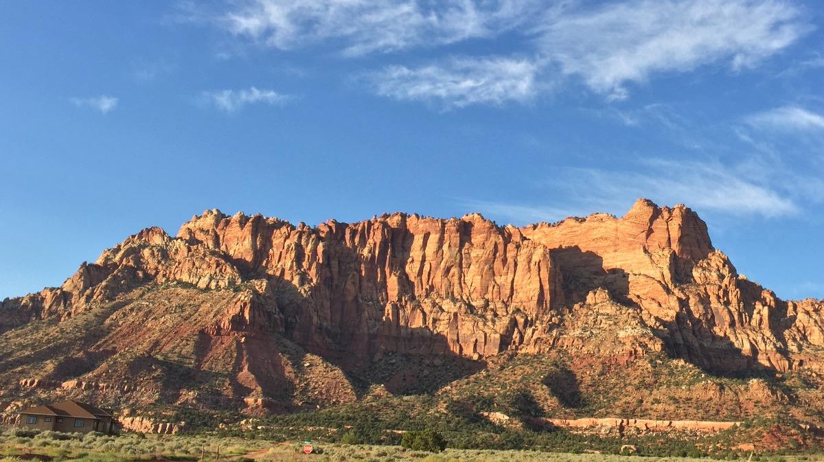 El Capitan near Hildale Utah where a 17-year-old fell 30 feet while hiking in the area, Washington County, Utah, Sept. 10, 2016 | Photo courtesy of Randy Barlow, St. George News