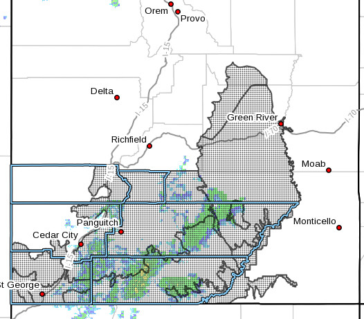 The National Weather Service has issued a flash flood watch for several Southern Utah counties.