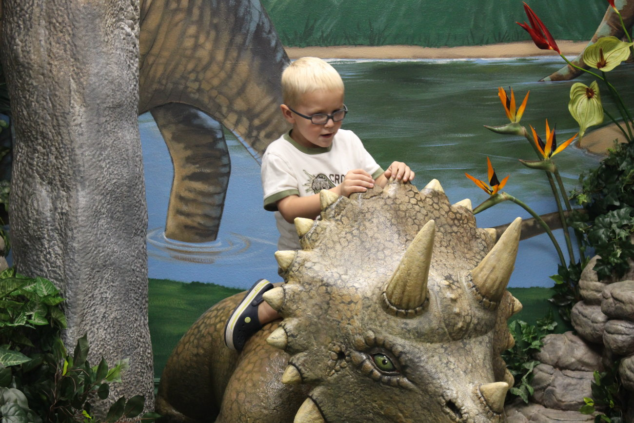 In the new dinosaur room of the St. George Children's Museum, St. George, Utah, Sept. 5, 2016 | Photo by Mori Kessler, St. George News