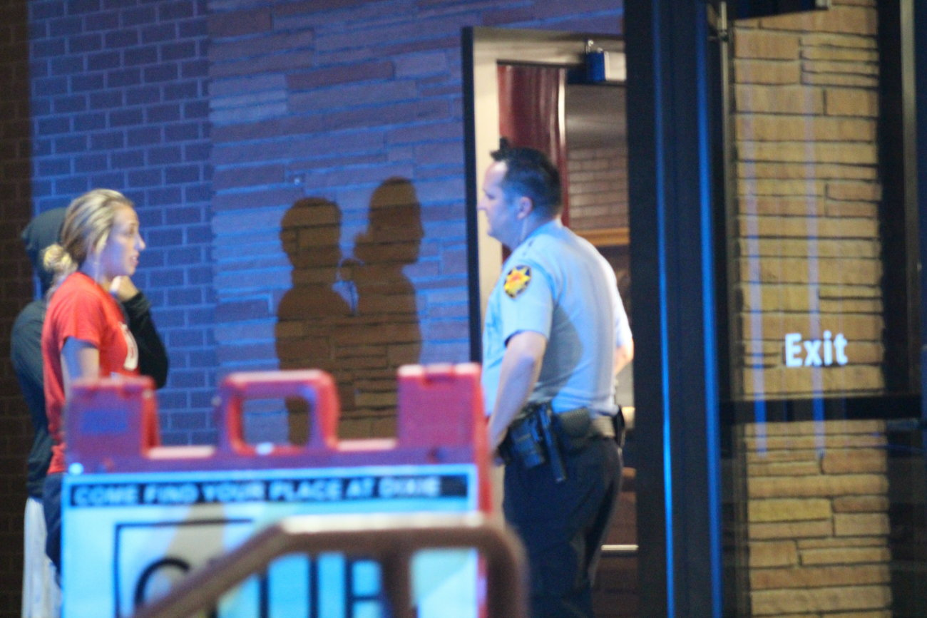 A St. George Police officer aiding in the investigation surrounding the woman's death tells Dixie State students that the Student Activity Center is closed for the evening due to the investigation, St. George, Utah, Sept. 6, 2016 | Photo by Mori Kessler, St. George News