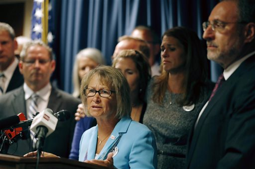 "Patty Wetterling, mother of Jacob Wetterling, speaks after a hearing for Danny Heinrich who confessed Tuesday to abducting and killing 11-year-old Jacob Wetterling nearly 27 years ago, recounting a crime that long haunted the state with details that included Jacob asking right after he was taken: ""What did I do wrong?"" Minneapolis, Minnesota, Sept. 6, 2016 