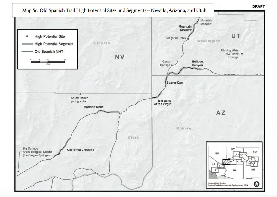 Sites and segments marked on map have the potential to contain important cultural resources| Map courtesy of National Park Service, St. George News