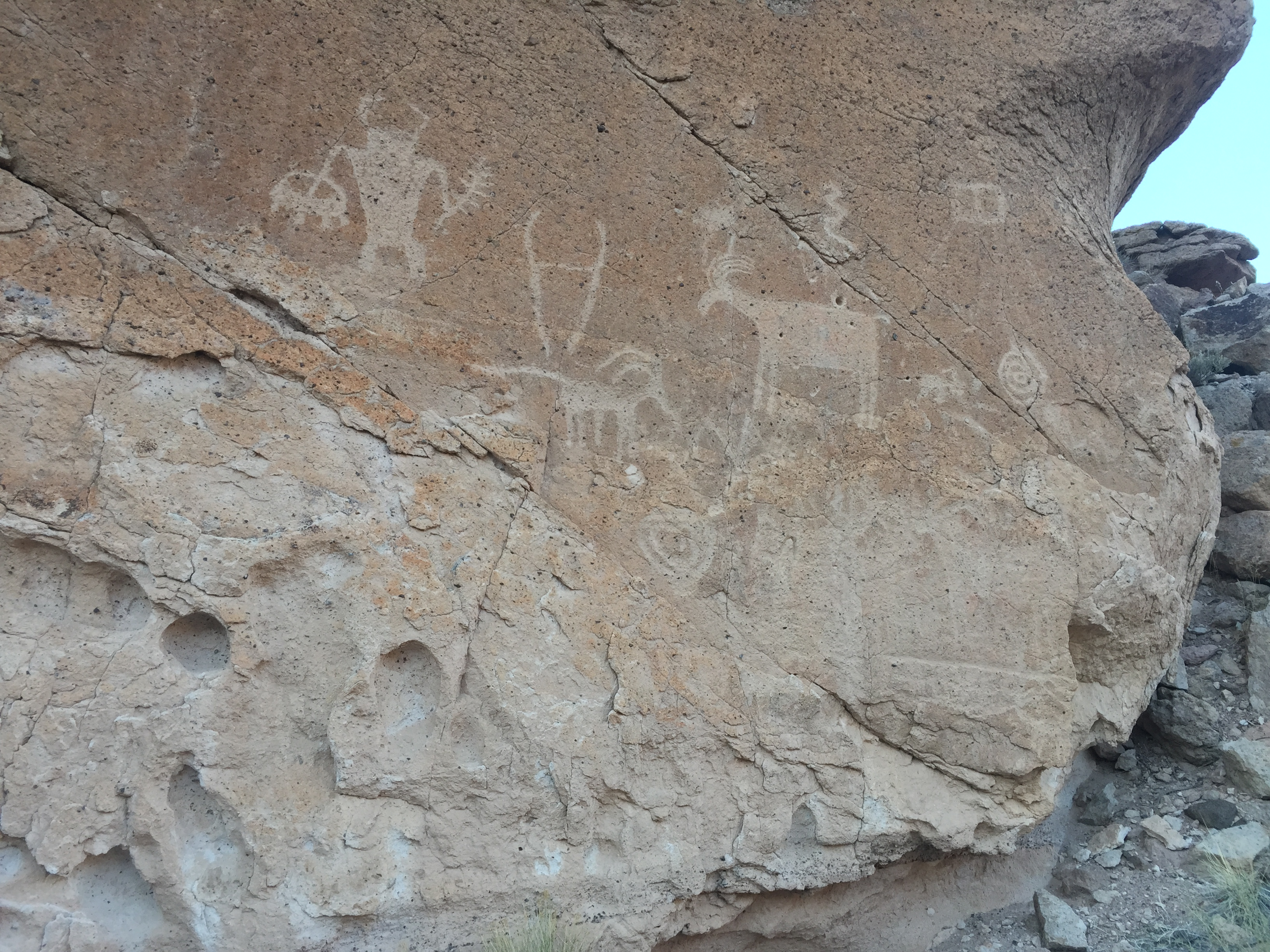 Petroglyph panel at Fremont Indian State Park, Utah, April 5, 2016  Photo courtesy Fremont Indian State Park, St. George News