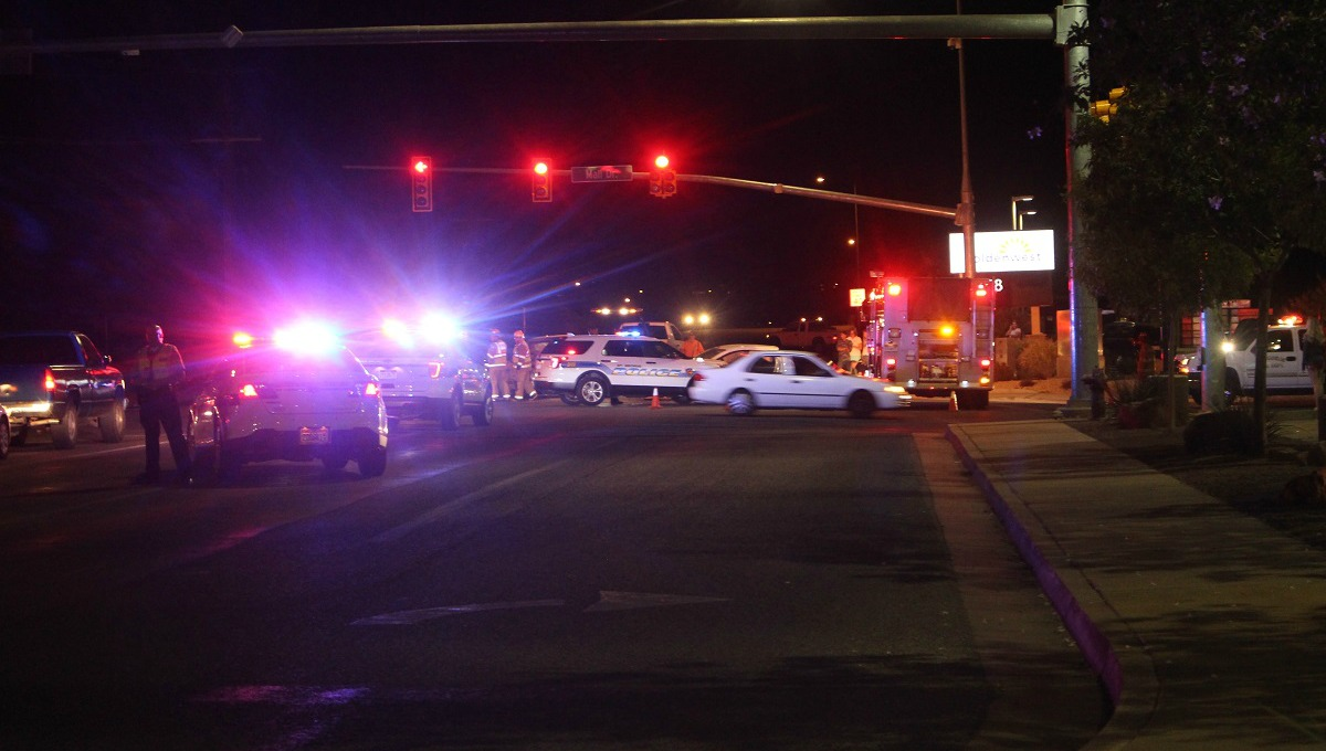 Numerous emergency personnel responded to the head on crash in the intersection of E. Riverside Drive and S. Mall Drive Saturday, St. George, Utah, Sept. 17, 2016  Photo by Cody Blowers, St. George News
