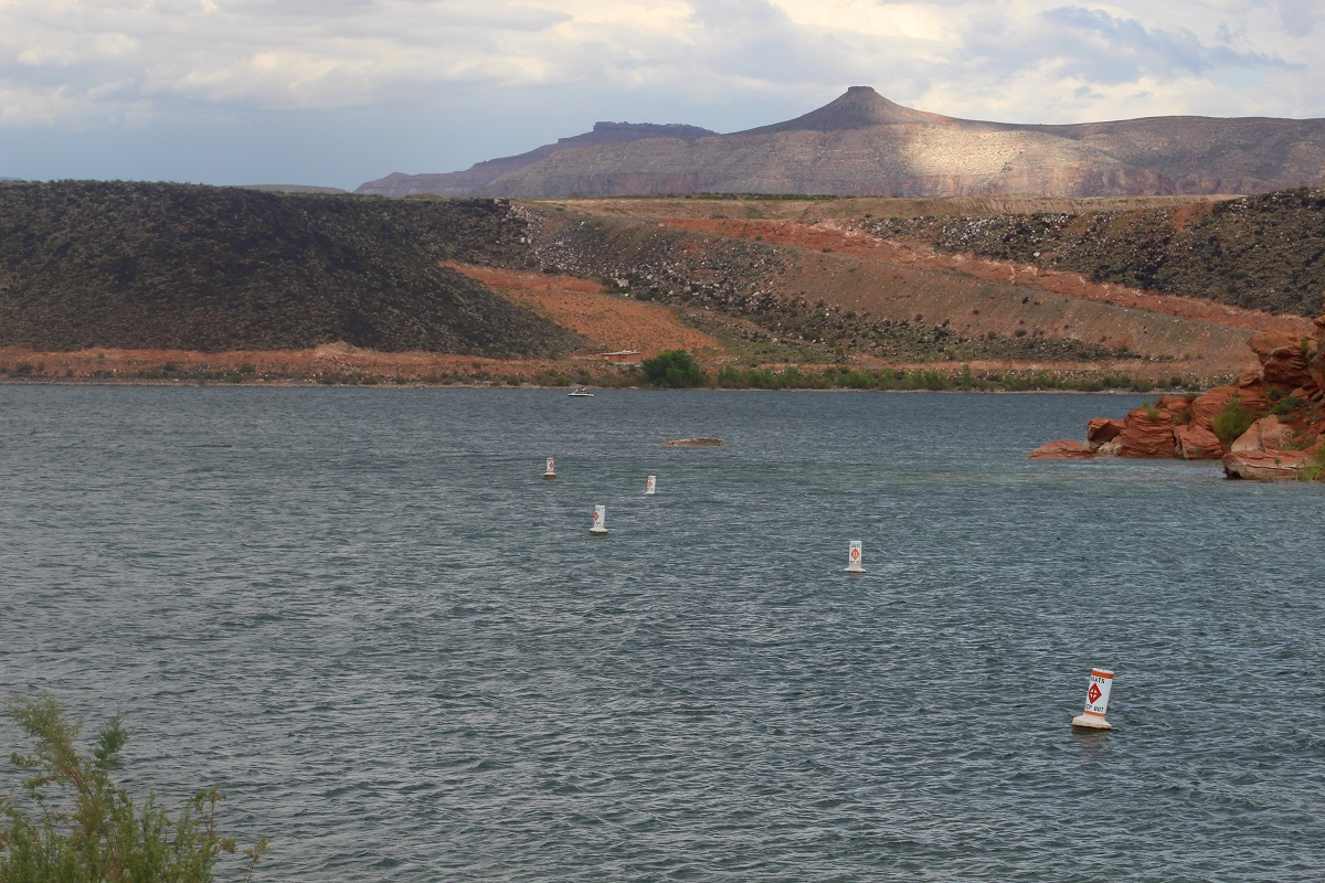 Waterway markers indicating restricted area, Sand Hollow State Park, Hurricane, Utah, Sept. 3, 2016 | Photo by Cody Blowers, St. George News