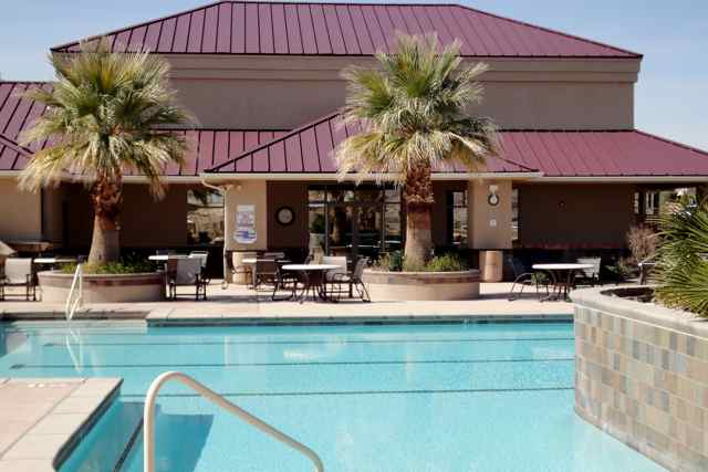 The pool at the SunRiver Club House, St. George, Utah, date not specified   Image courtesy of SunRiver, St. George News