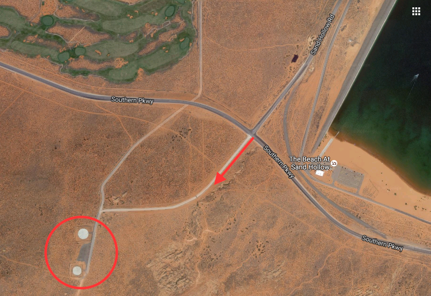 Map courtesy of Google Maps, St. George News