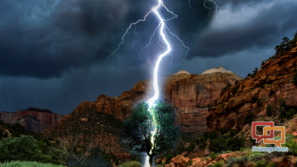 2 injured in Zion National Park after lightning strikes tree; safety tips & 2 injured in Zion National Park after lightning strikes tree ...