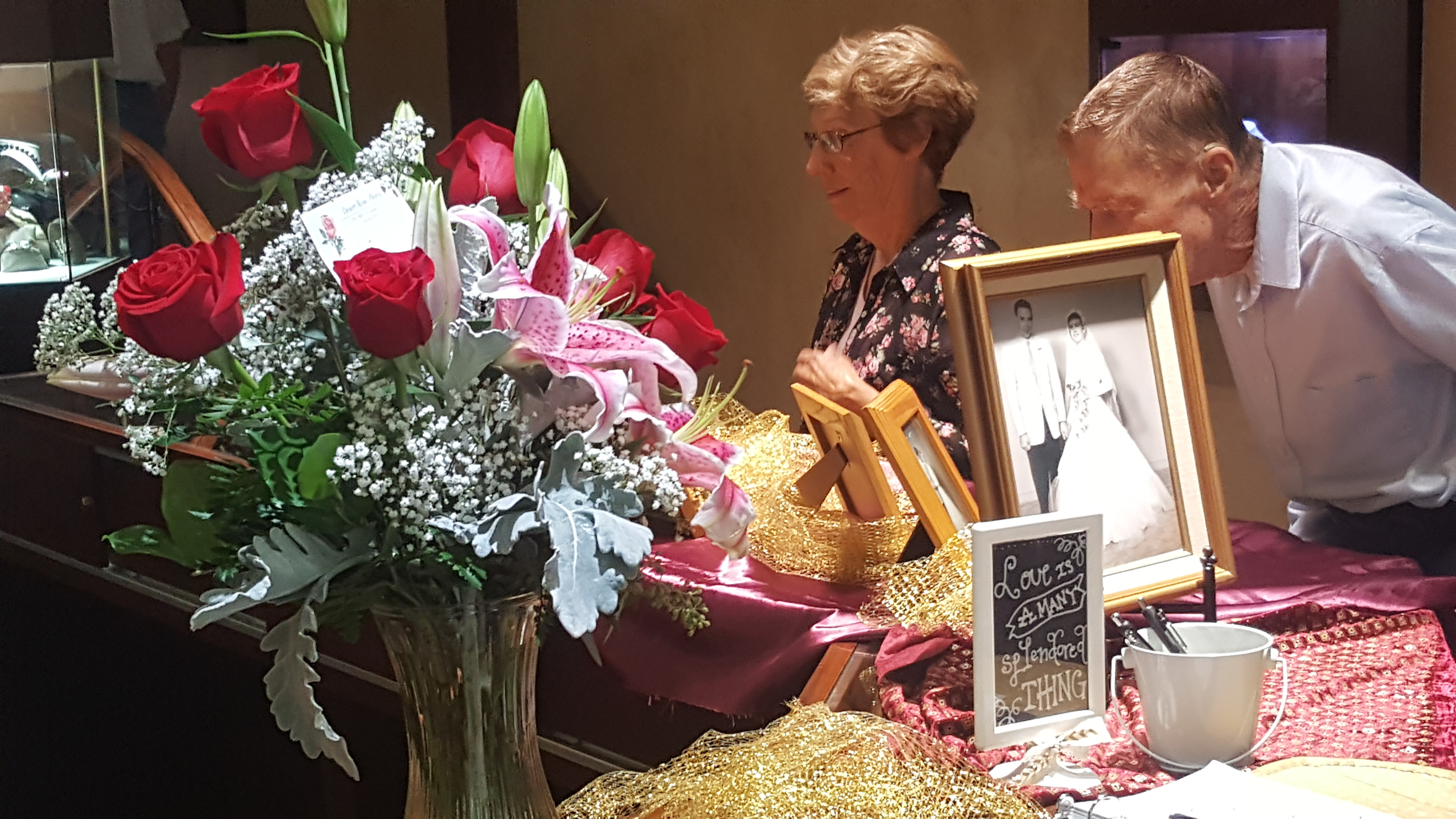 Friends and family mingle at LaRee and Heber Jones' 60th wedding anniversary, Forever Young Fine Jewelry, St. George, Utah, Oct. 12, 2016 | Photo courtesy of Megan Young, St. George News