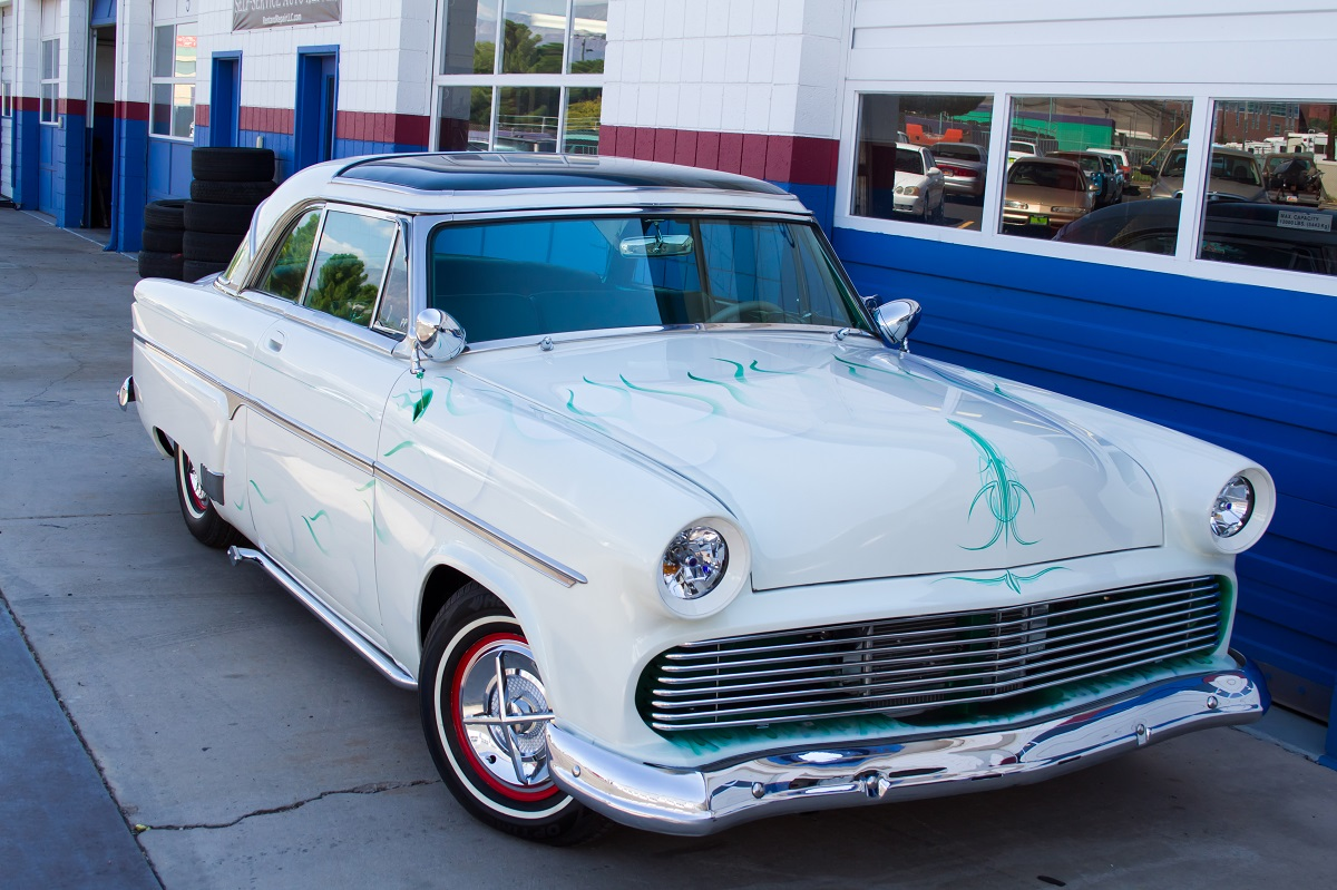Raffle ticket sales to win a 1954 Ford Skyliner have brought in $800 to date, and sales will continue until the car is raffled off at the 2017 First Responders Car Show by Rent and Repair Auto Complex located at 150 East 1160 South, St. George Utah, Nov. 2, 2016 | Photo courtesy of Nathan Valentine, St. George News