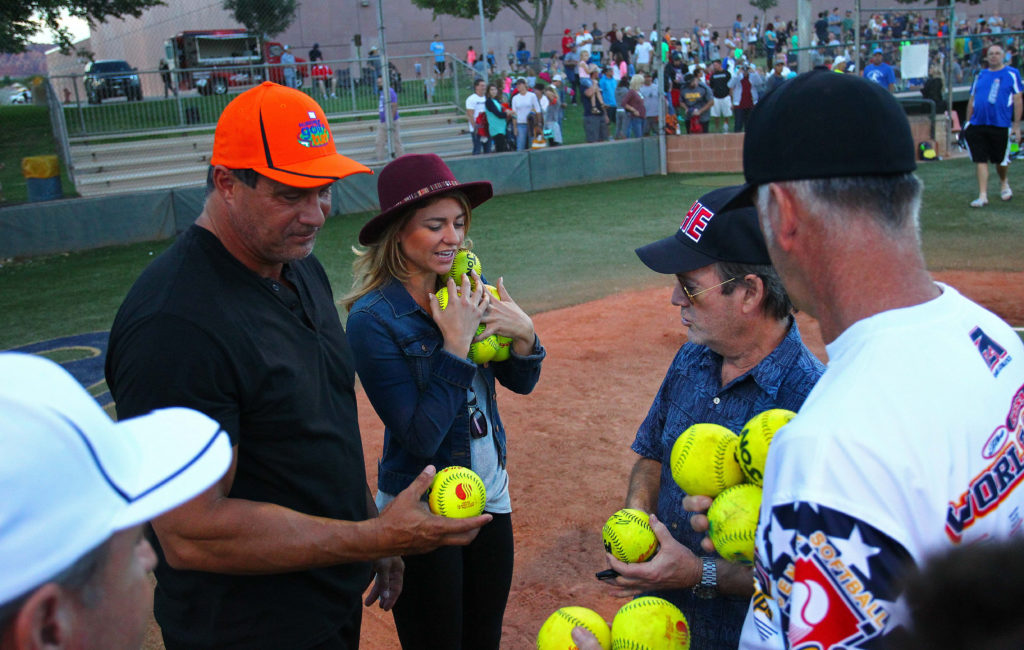 Former Major League Baseball player Jose Canseco puts on a home run hitting exhibition at Snow Canyon High School, St. George, Utah, Oct. 13, 2016,   Photo by Robert Hoppie, ASPpix.com, St. George News