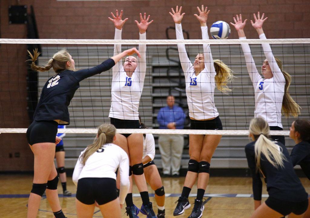 Dixie vs. Desert Hills, Volleyball, St. George, Utah, Oct. 4, 2016,   Photo by Robert Hoppie, ASPpix.com, St. George News