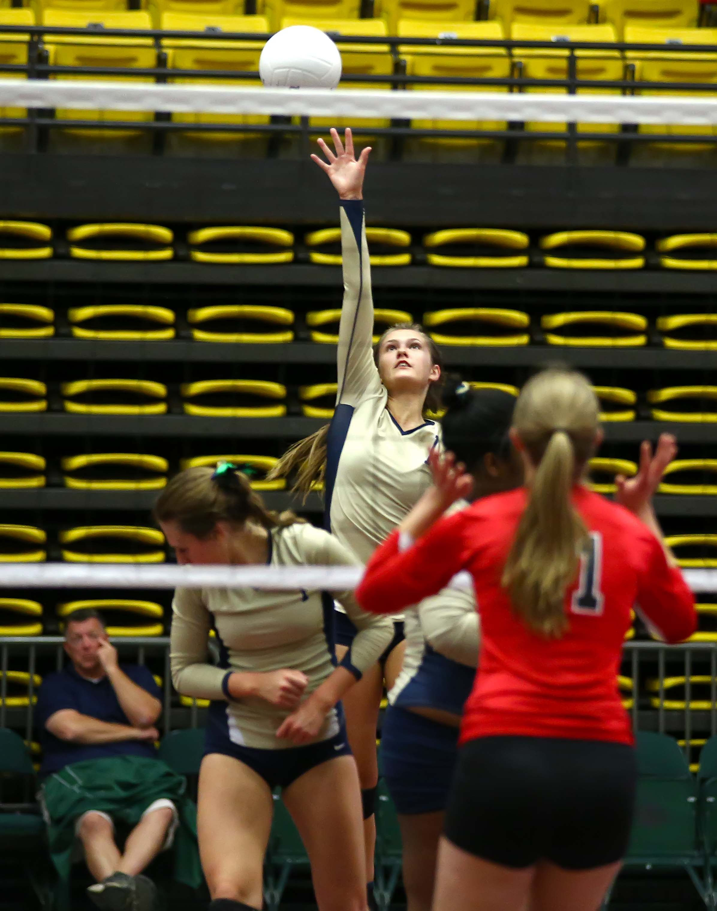 Snow Canyon's Sammi Johnston (11), Snow Canyon vs. Park City, 3A State Volleyball Tournament, Orem, Utah, Oct. 26, 2016, | Photo by Robert Hoppie, ASPpix.com, St. George News