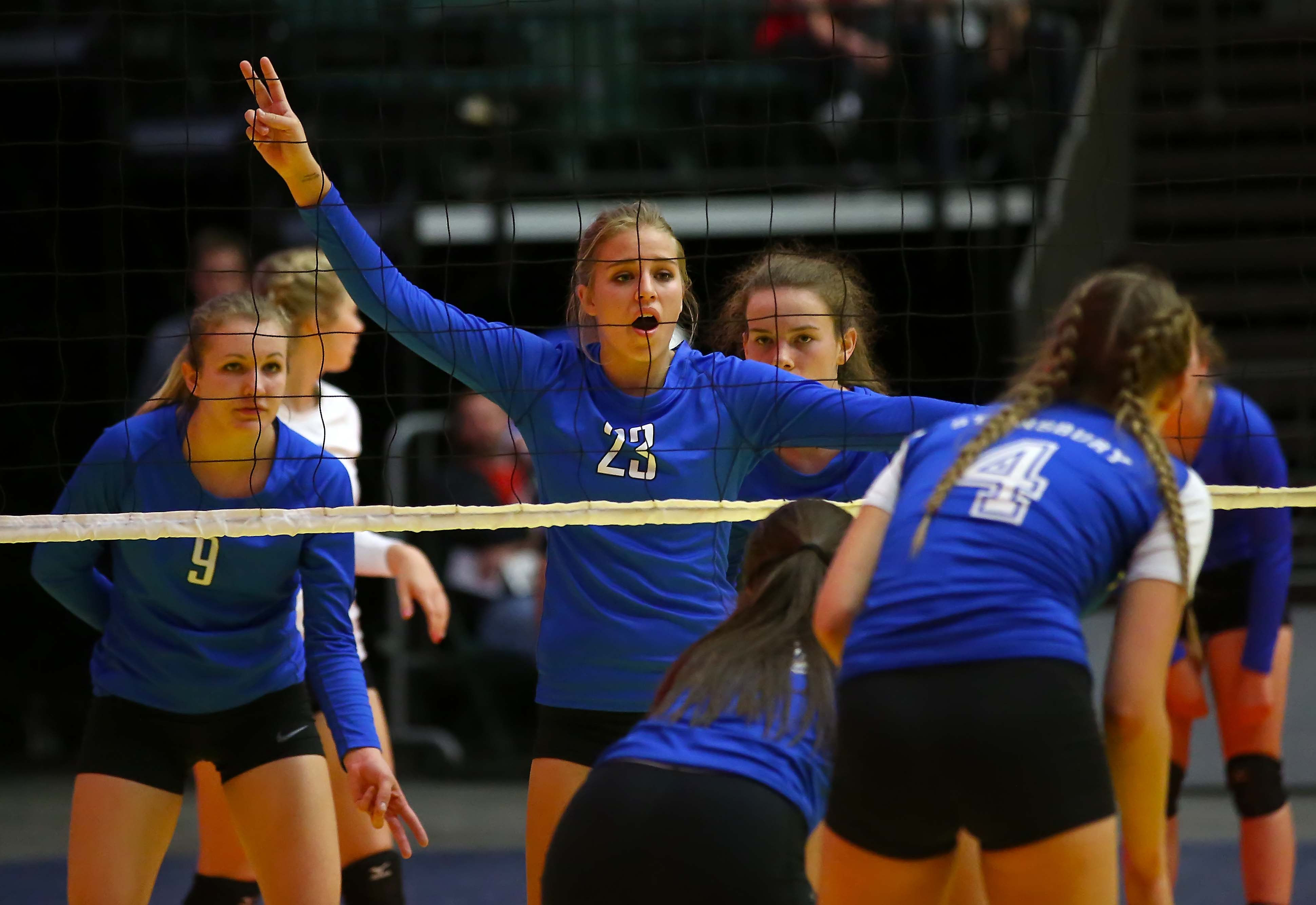 Dixie's Brynn Eardley (23), Dixie vs. Stansbury, 3A State Volleyball Tournament, Orem, Utah, Oct. 26, 2016, | Photo by Robert Hoppie, ASPpix.com, St. George News