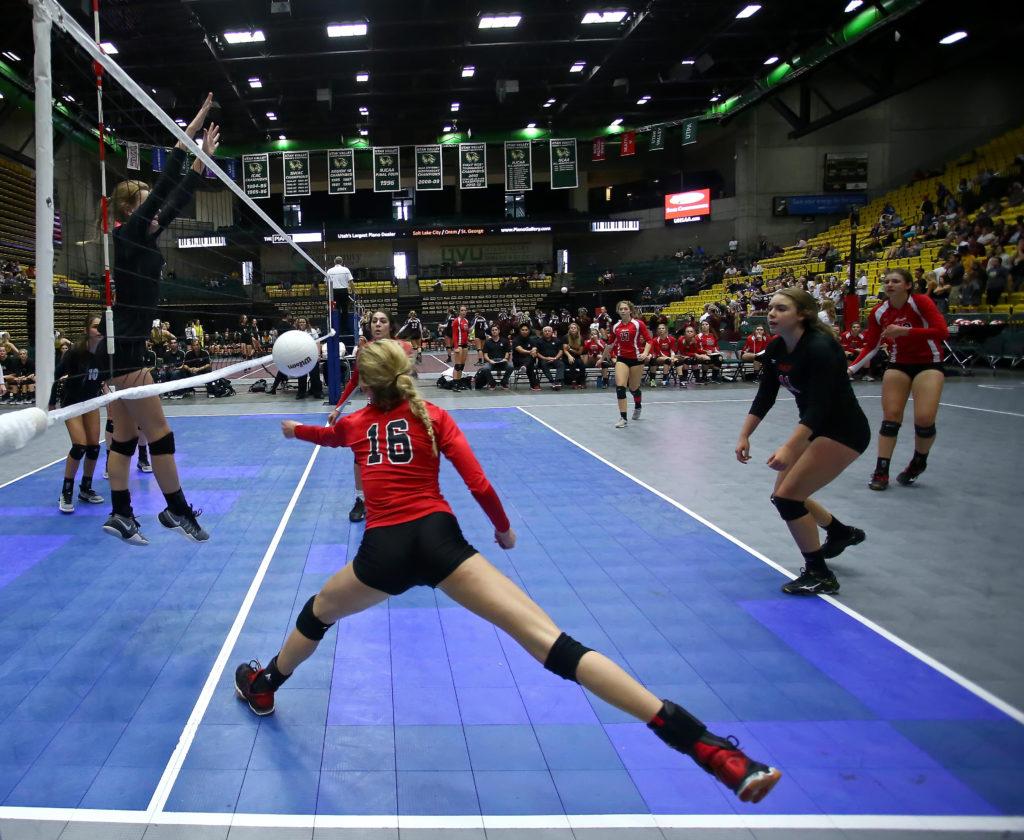 Desert Hills vs. Park City, 3A State Volleyball Tournament, Orem, Utah, Oct. 27, 2016, | Photo by Robert Hoppie, ASPpix.com, St. George News