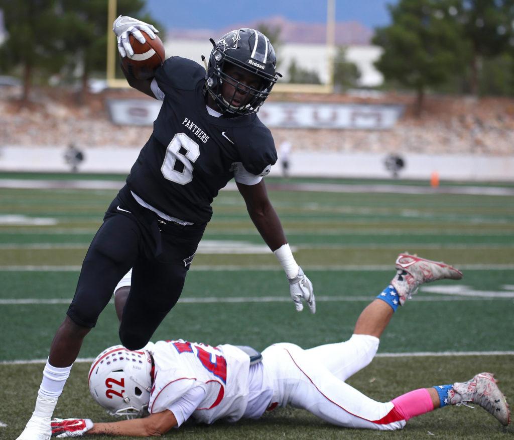 Pine View's Jacob Mpungi (6), Pine View vs. Ben Lomond, 3AA State Football Playoffs, St. George, Utah, Oct. 28, 2016, | Photo by Robert Hoppie, ASPpix.com, St. George News