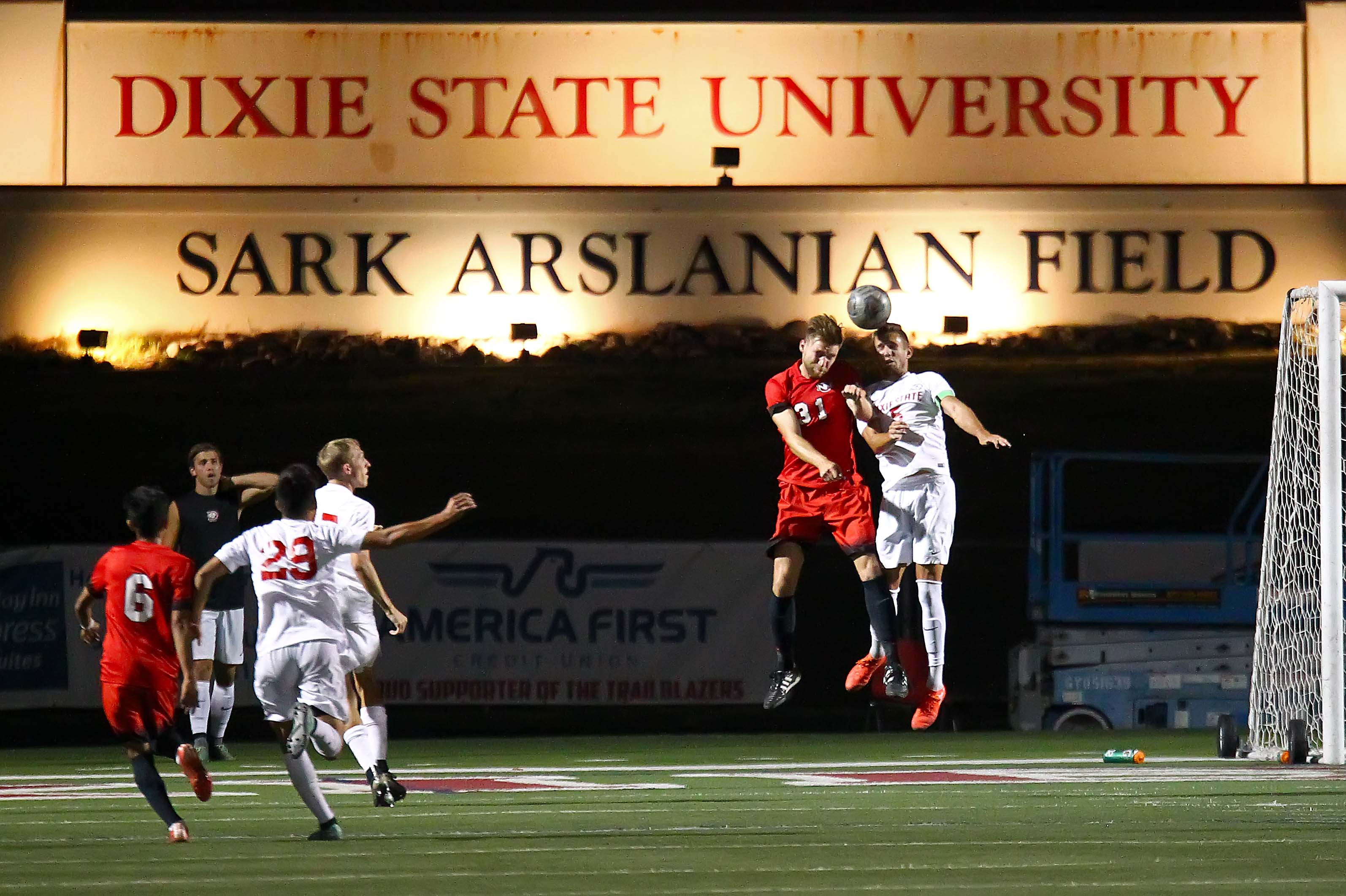 Dixie State University vs. Northwest Nazarene University, Mens Soccer, St. George, Utah, Sept. 17, 2016, | Photo by Robert Hoppie, ASPpix.com, St. George News
