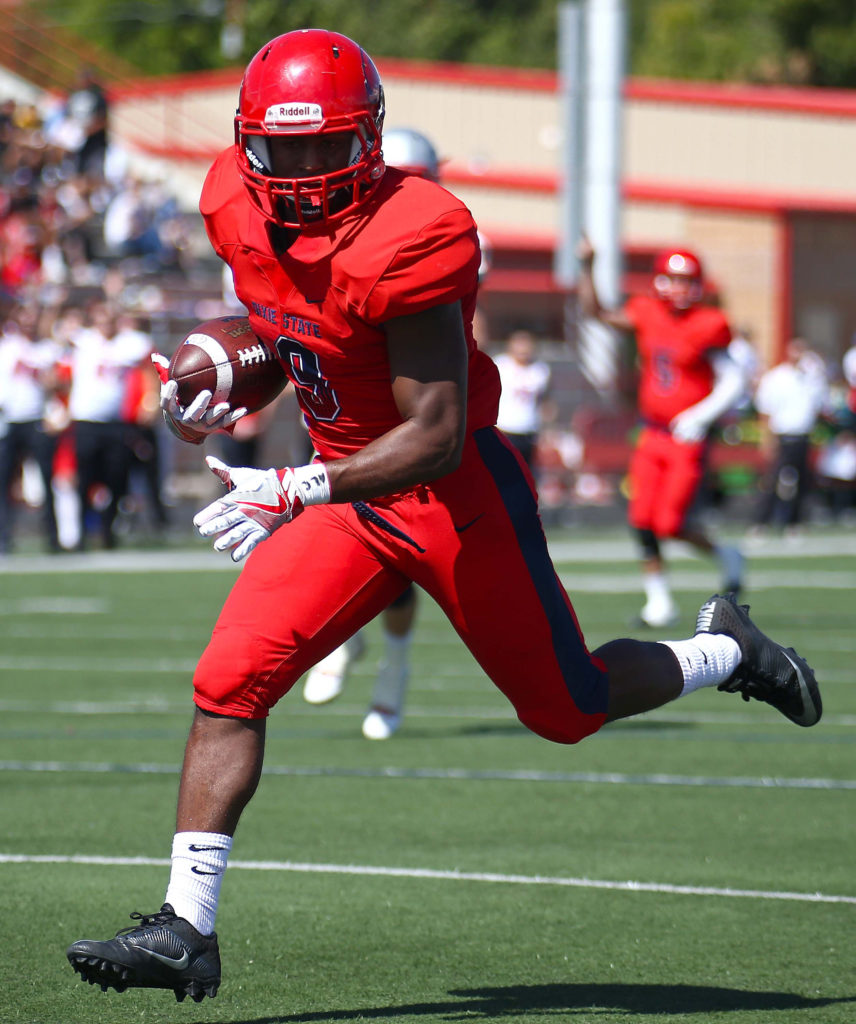 Dixie State's DeJon Coleman (9), Dixie State University vs. Western State Colorado University, Football , St. George, Utah, Oct. 1, 2016, | Photo by Robert Hoppie, ASPpix.com, St. George News
