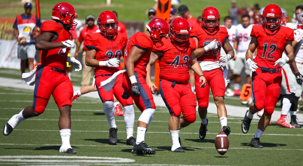 Dixie State University vs. Western State Colorado University, Football , St. George, Utah, Oct. 1, 2016, | Photo by Robert Hoppie, ASPpix.com, St. George News