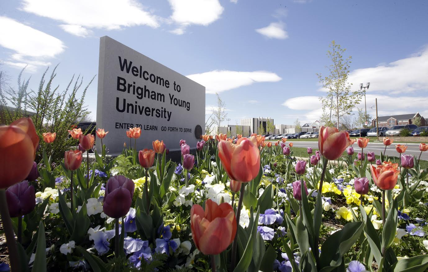 FILE - This April 19, 2016, file photo, shows a welcome sign to Brigham Young University. University officials found out Thursday, Aug. 4, 2016, that federal authorities will investigate the campus process for handling reports of sexual assault, Provo, Utah | AP photo by Rick Bowmer, St. George News