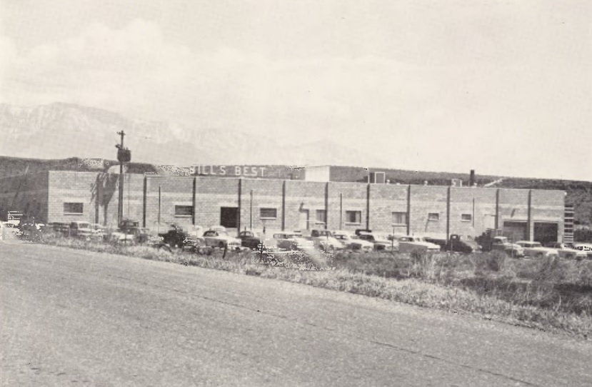Bill's Best processing plant in Washington County, one of several facilities owned by Bill Barlocker in the 1940s and 1950s | Photo courtesy of Washington County Historical Society, St. George News