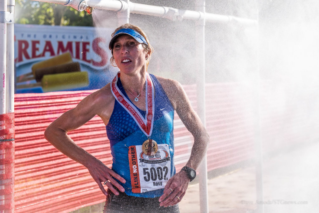 Women's winner Rosy Lee at the 2016 St. George Marathon Saturday morning, St. George, Utah, Oct. 1, 2016 | Photo by Dave Amodt, St. George News