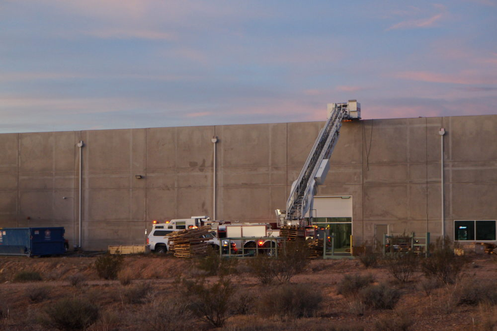 St. George Fire Department responded to a fire alarm Friday morning at the manufacturing site of Milliken & Company, 961 E. Commerce Drive, St. George, Utah, Oct. 14, 2016 | Photo by and courtesy of Dylan Westover, St. George News