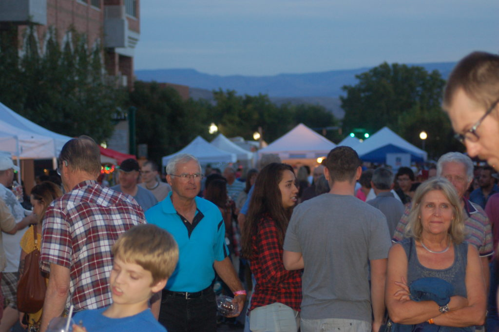 Crowds mingle with family and friends on Main Street during George Streetfest in St. George, Utah, Oct. 7, 2016 | Photo by Hollie Reina, St. George News