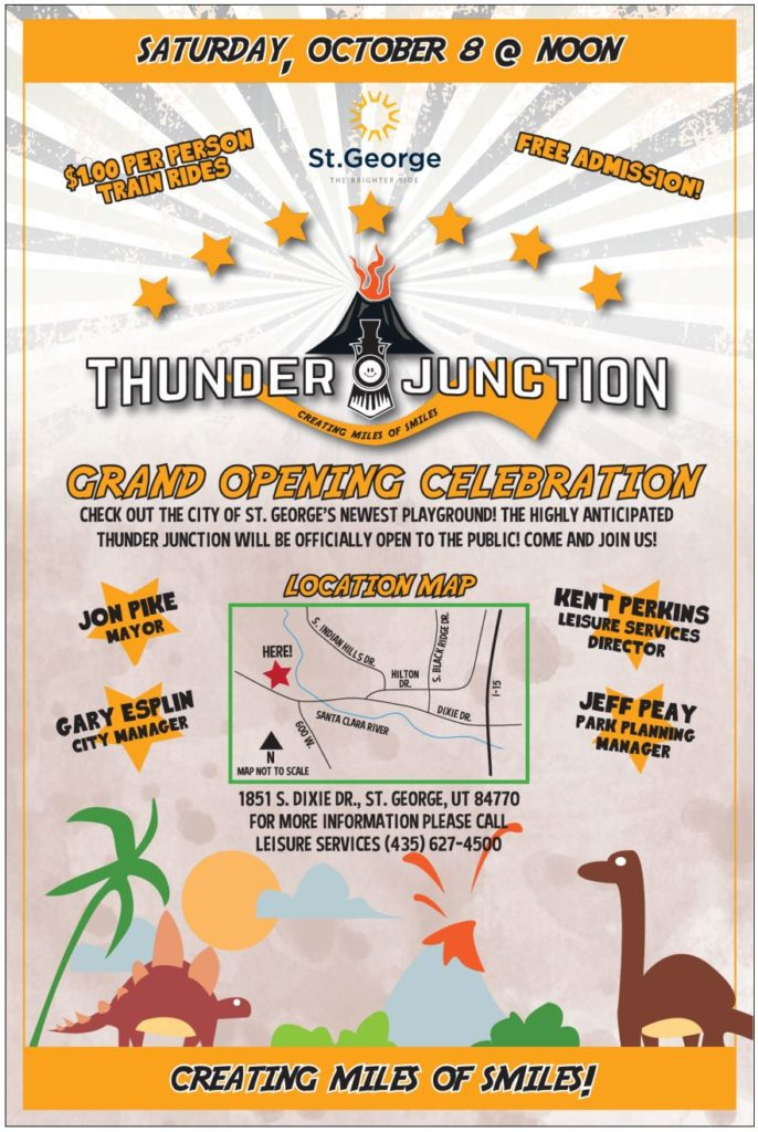 Flyer for the Thunder Junction All Abilities Park opening, St. George, Utah, date not specified | Flyer courtesy of the City of St. George, St. George News