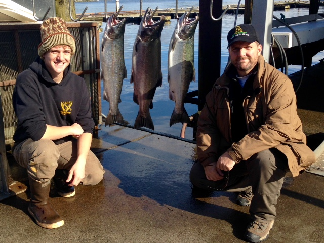 L-R: Forrest Hyde with father Bryan Hyde posing with their catch in Ketchikan, Alaska, circa Sept. 27, 2016 | Photo courtesy of Bryan Hyde, St. George News