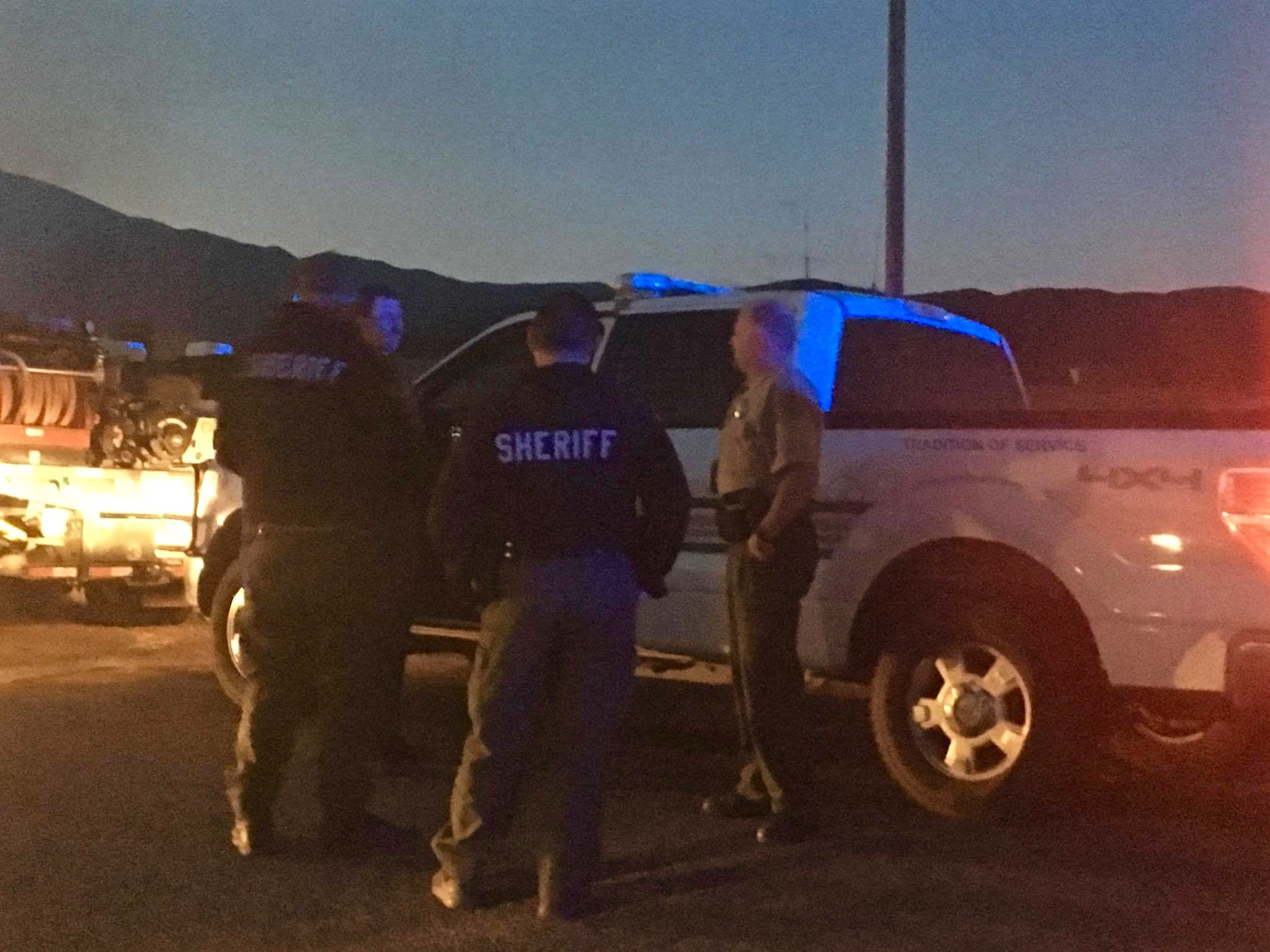 Members of the Iron County Sheriff's Office responding to the Hicks Fire in Iron County, Utah, Oct. 17, 2016 | Photo courtesy of the Iron County Sheriff's Office, Cedar City News / St. George News