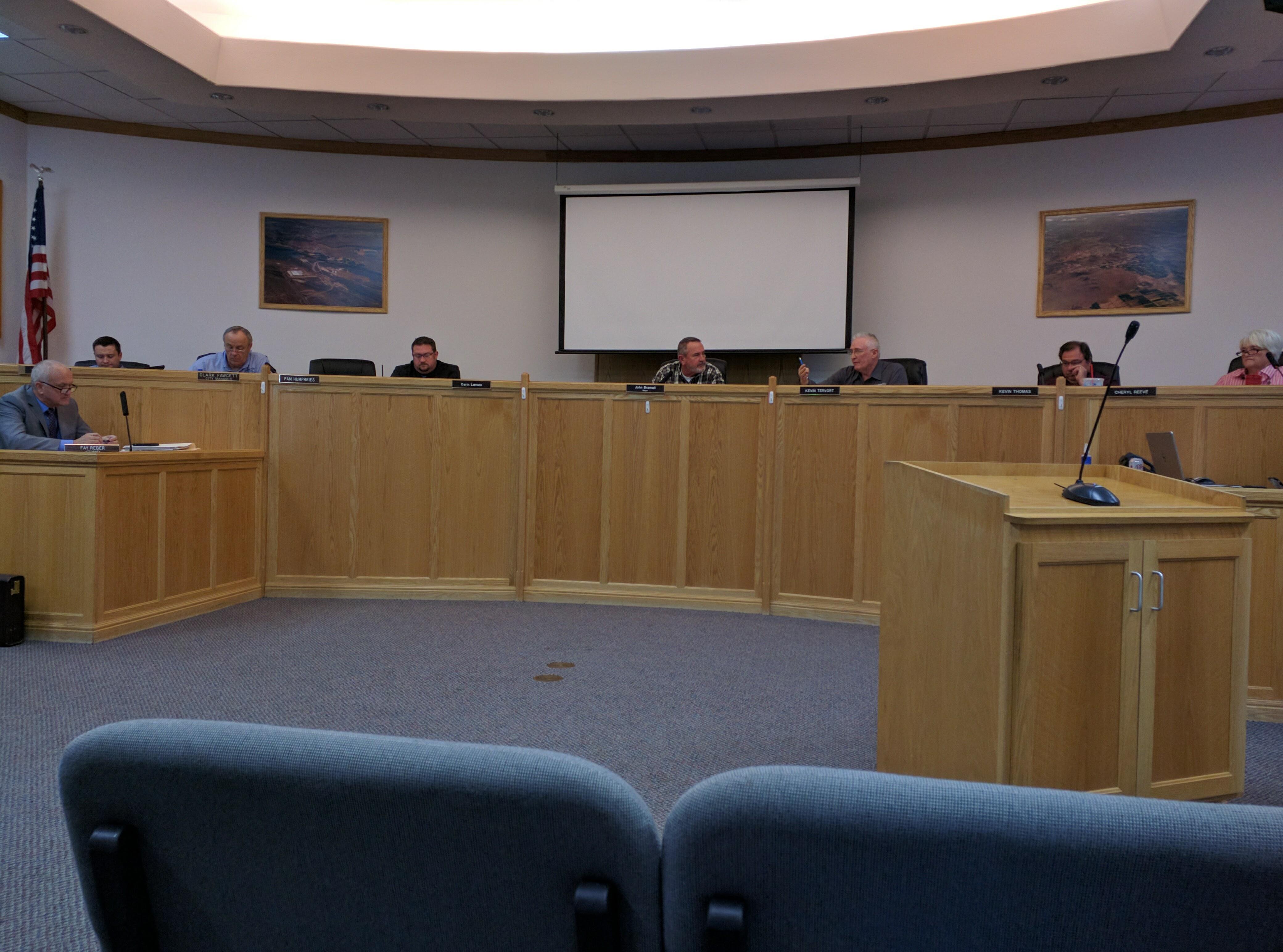 Hurricane city council, Hurricane, Utah, Oct. 6, 2016 | Photo by Joseph Witham, St. George News
