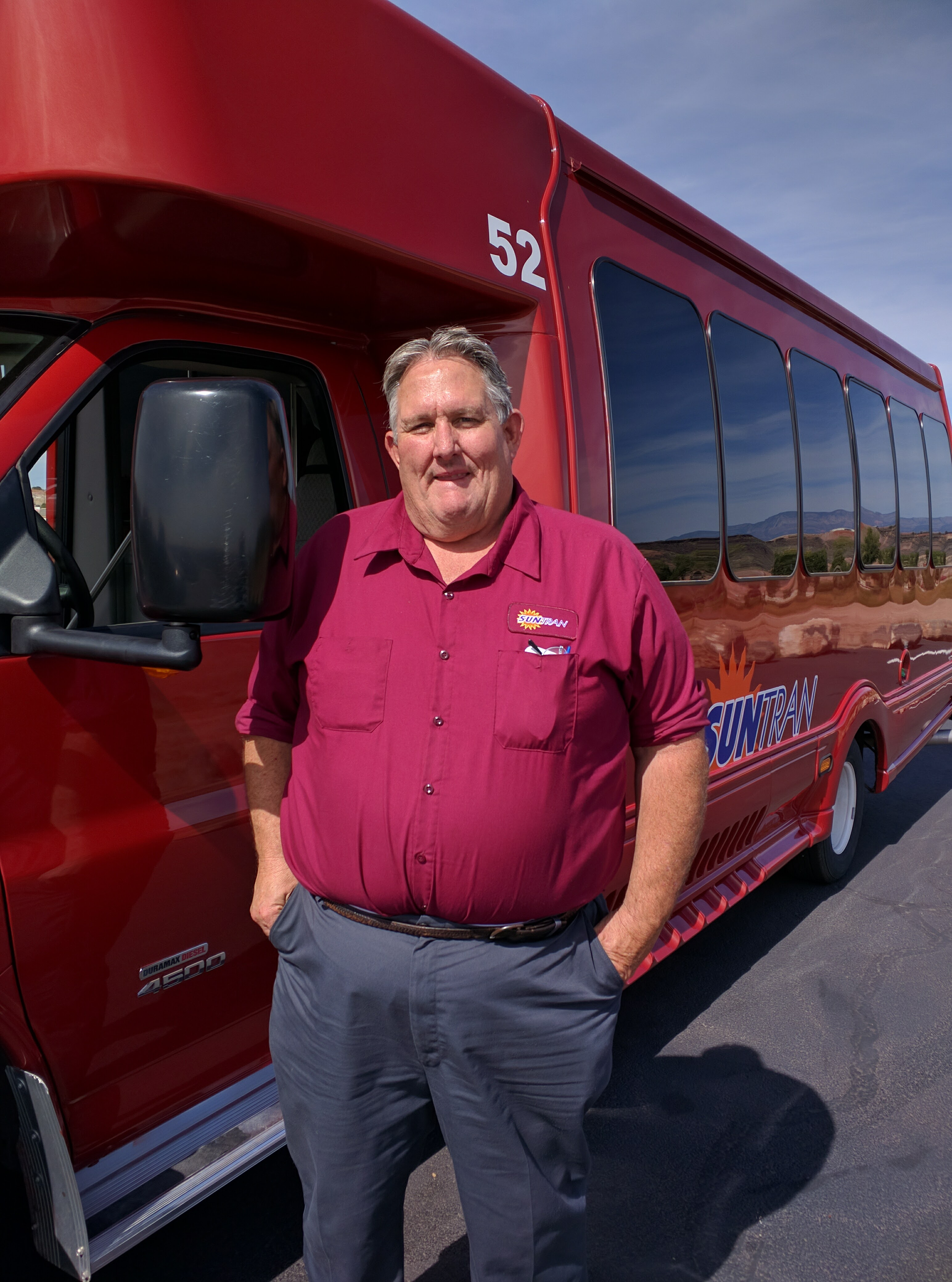 Rick Nelson, a bus driver for Sun Tran, seeks election to the local school board, St. George, Utah, Oct. 8, 2016 | Photo by Joseph Witham, St. George News
