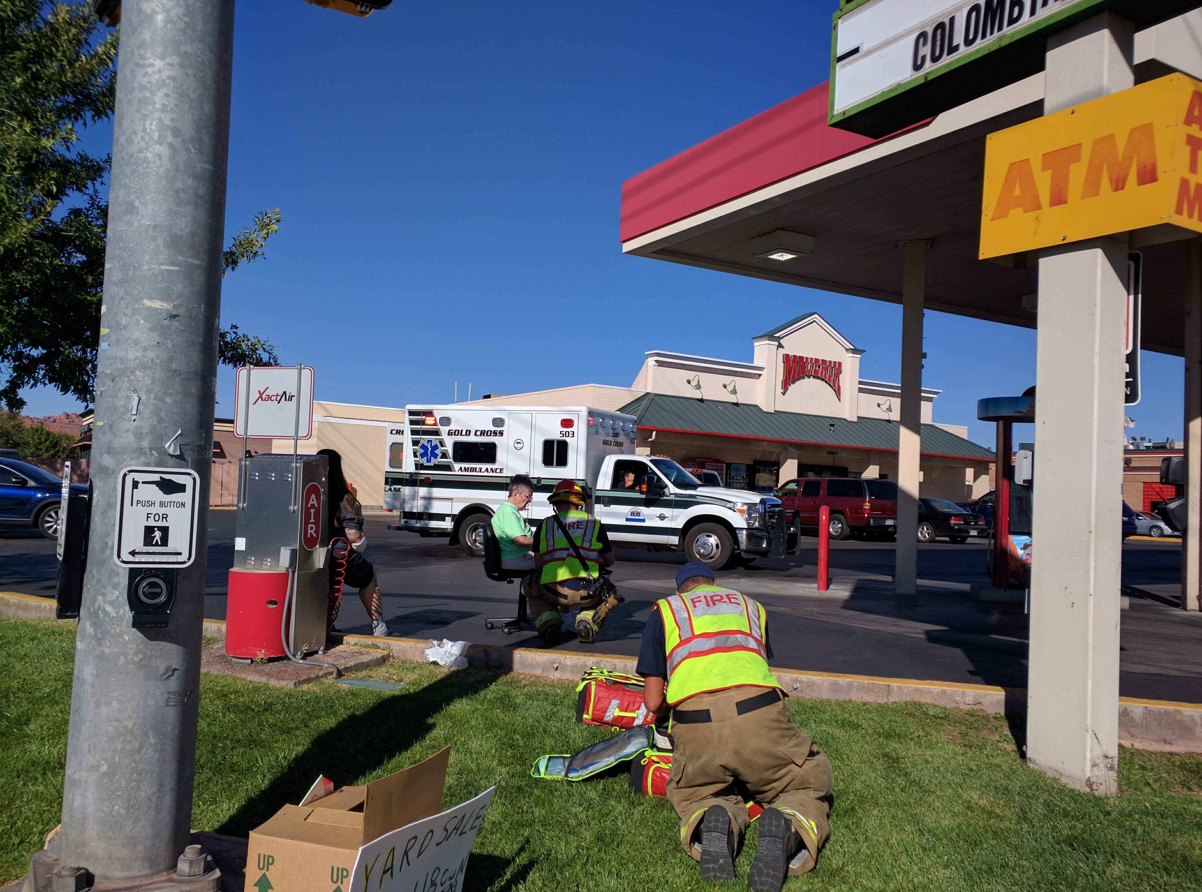 Emergency crews assist patients after a collision on Sunset Boulevard, St. George, Utah, Oct 15, 2016 | Photo by Joseph Witham, St. George News