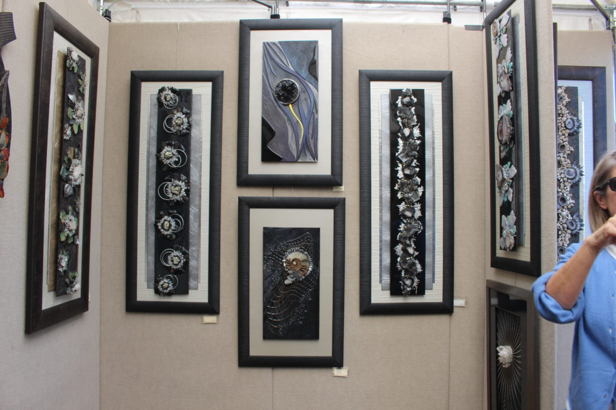 Wall art using materials from nature presented by Pietra Wall at Kayenta Festival of Art Friday in Ivins, Utah, Oct. 7, 2016   Photo by Cody BLowers, St. George News