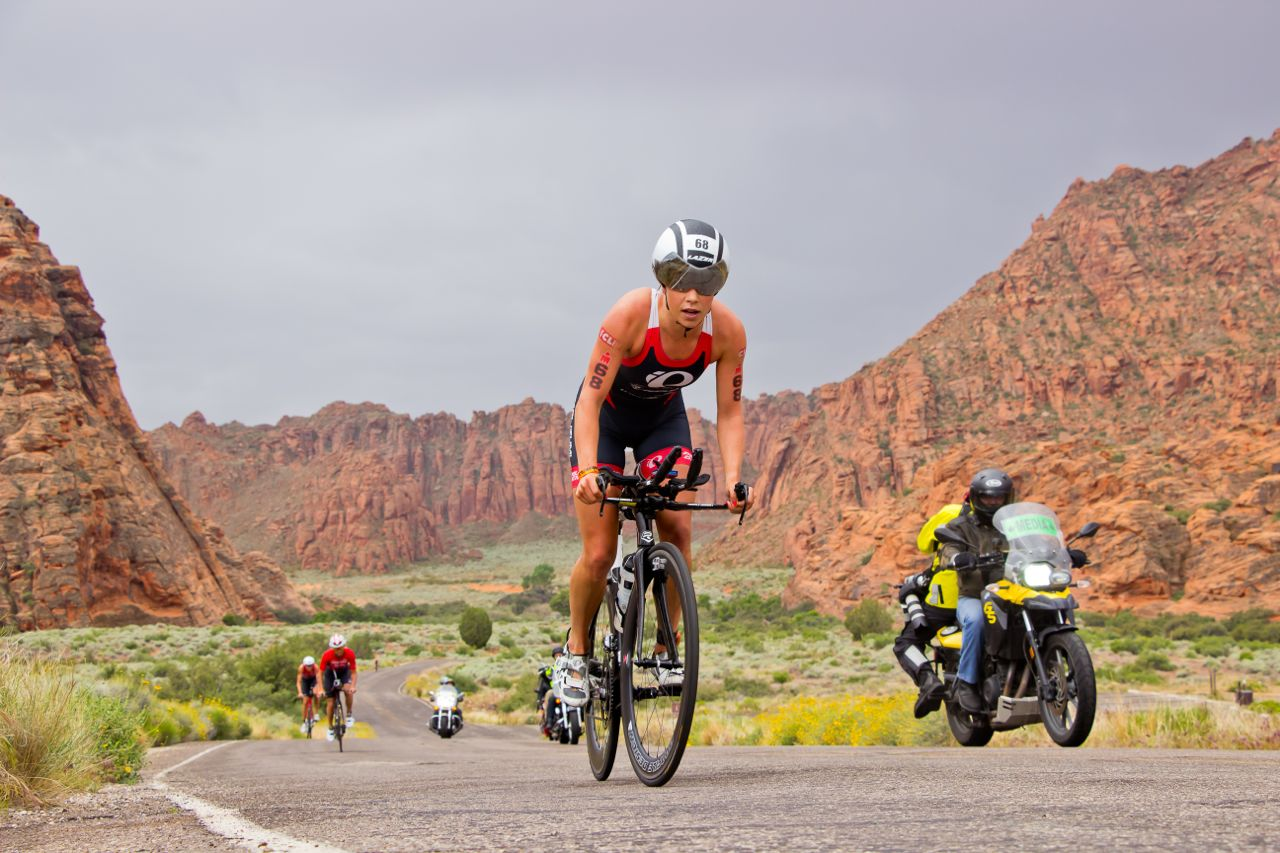Ironman competitors riding through Snow Canyon State Park. May 7, 2016 | Photo by Joe Neuman, St. George News