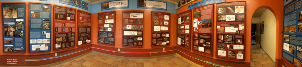Panoramic shot of the Kane Gulch Ranger Station Rock Art Exhibit | Photo courtesy of the BLM, St. George News
