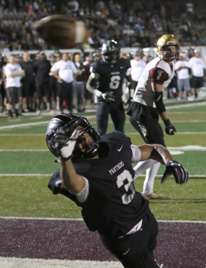 Pine View's Michael Moten (3), Pine View vs. Cedar, Football, St. George, Utah, Oct. 21, 2016, | Photo by Kevin Luthy, St. George News