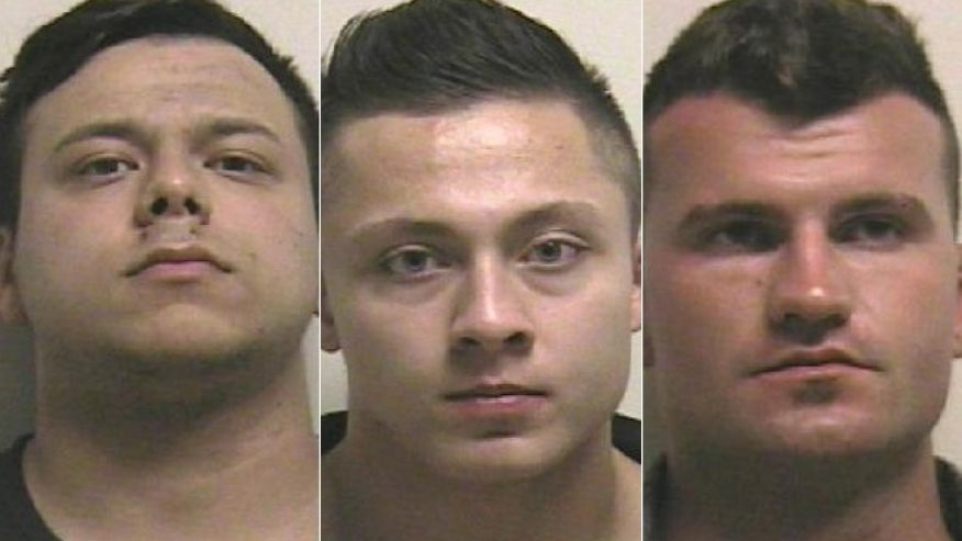From L-R: Caicedo Santiago, Kyle Taylor and Brennan Tutt, all of Canada, booking photos posted Oct. 10, 2016 | Photos courtesy of the Utah County Jail, St. George News