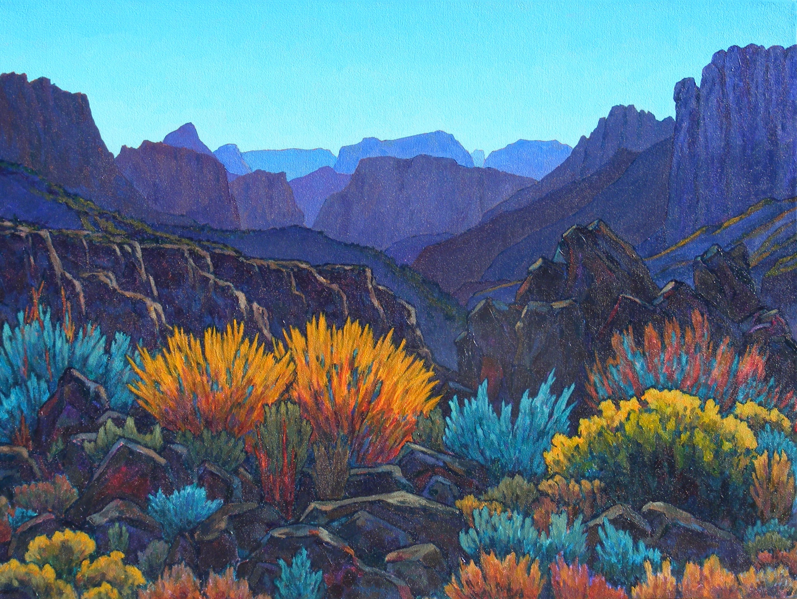 Painting by Royden Card | Photo courtesy of the Zion Natural History Association, Zion National Park, St. George News