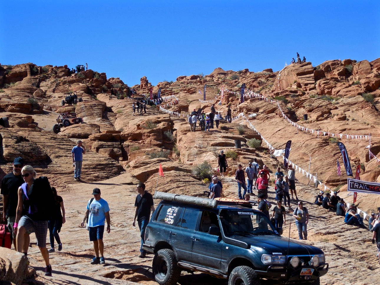 Spectators and participants enjoy the Trail Hero event, Sand Mountain, Hurricane, Utah, Oct. 6, 2016 | Photo by Julie Applegate, St. George News
