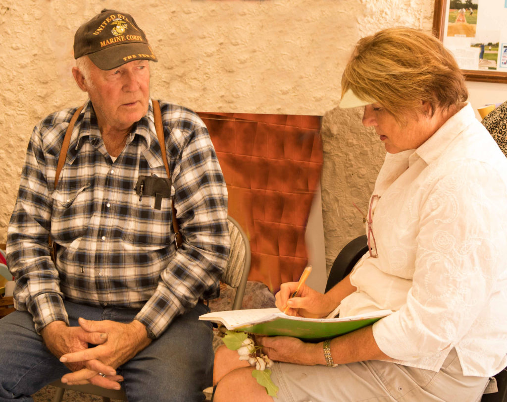Mesquite resident Tuffy Ruth speaks with the author, Virgin Valley Heritage Museum, Mesquite, Nevada, Oct. 18, 2016 | Photo by Jim Lillywhite, St. George News