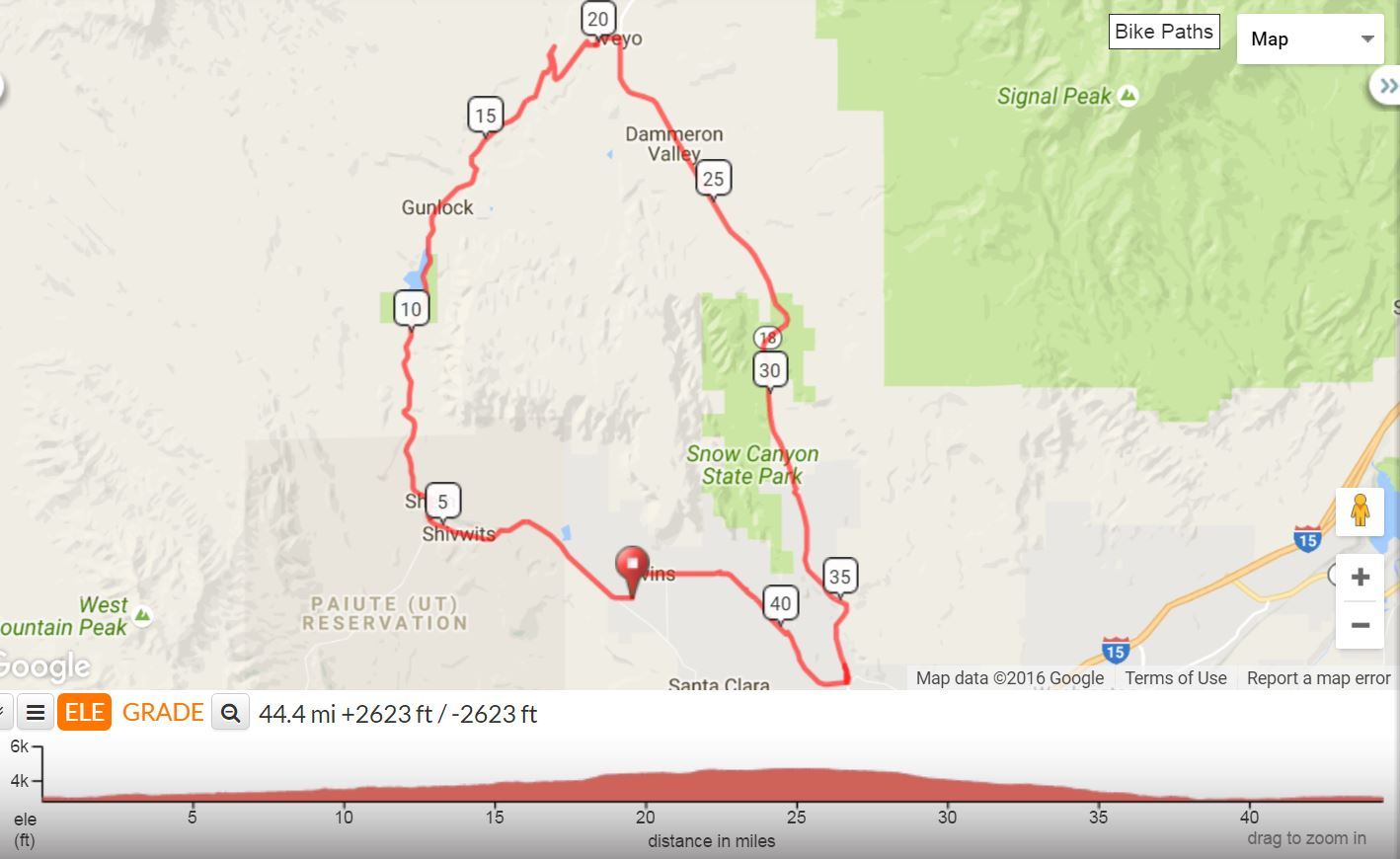 Veyo Loop Map, St. George News