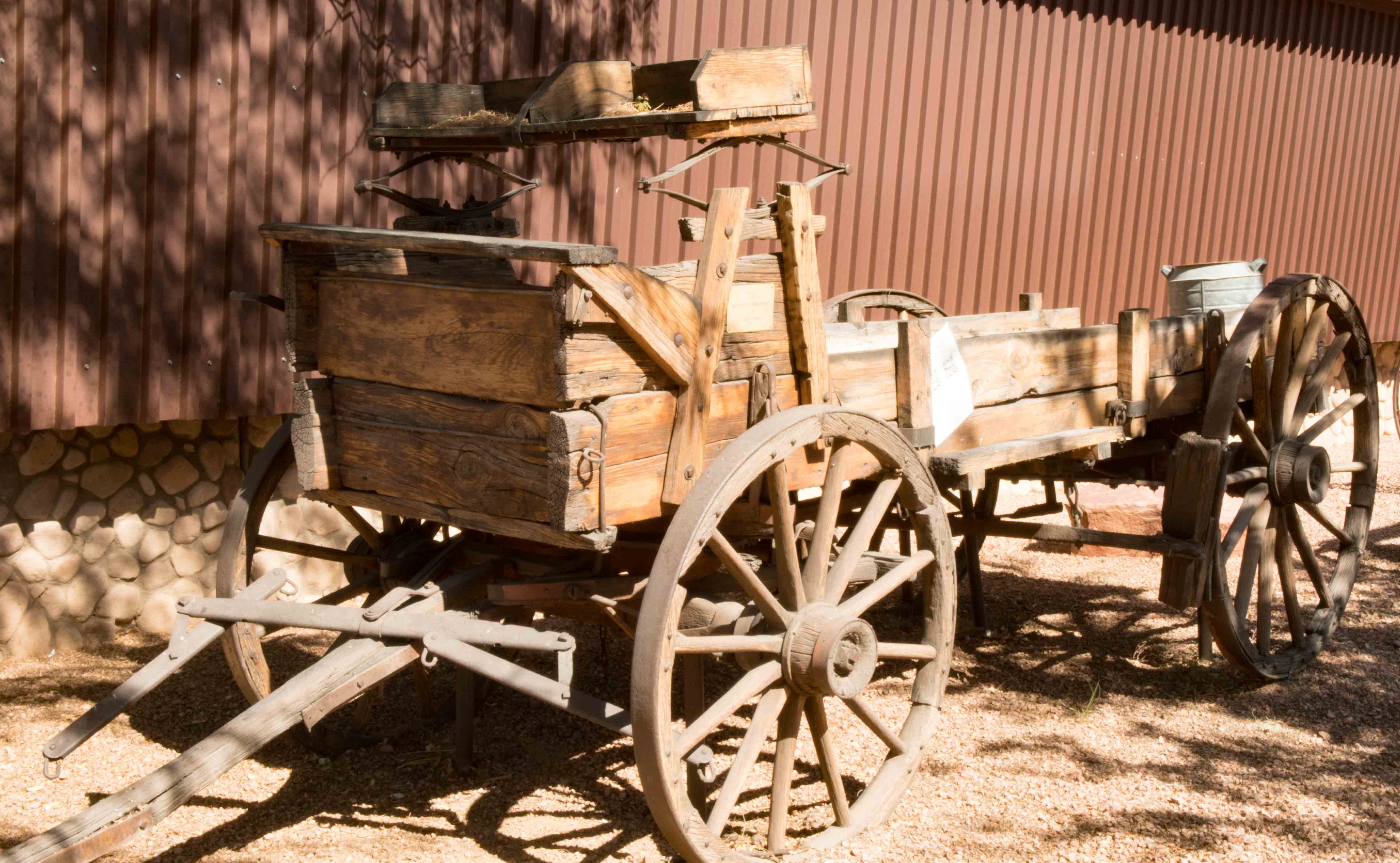 Old wagon on display at Virgin Valley Heritage Museum, Mesquite, Nevada, Oct. 18, 2016 | Photo by Jim Lillywhite, St. George News
