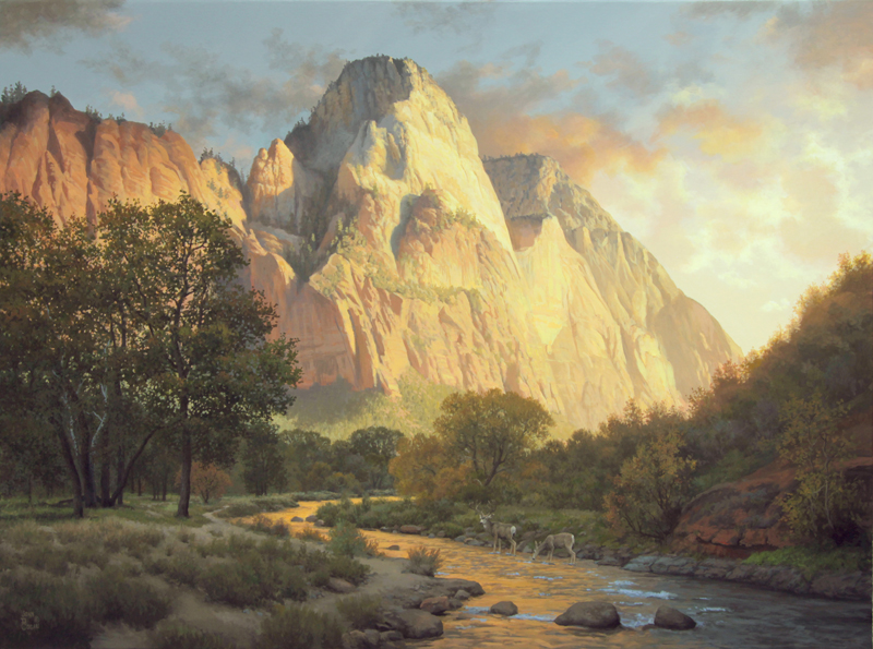 """Waters of Evening"" painting by John Cogan 