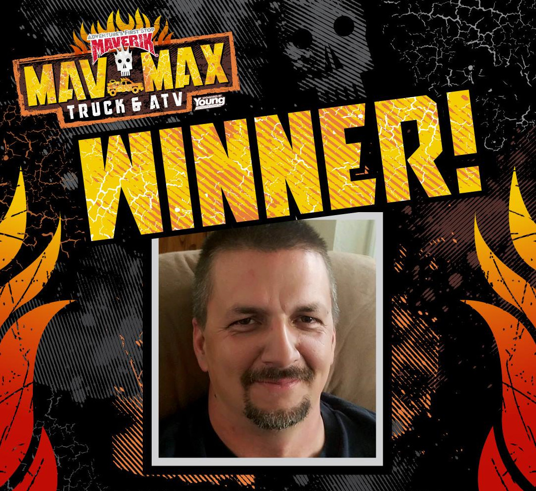 Brandon Peabody, winner of the Maverik Mav Max truck and ATV, date not specified | Image courtesy of Maverik, St. George News