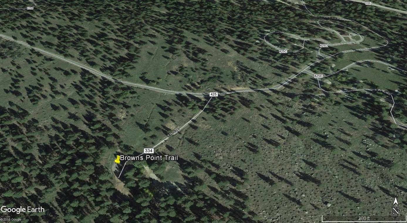 Browns Point Trail, Utah | Image courtesy of Google Earth, St. George News