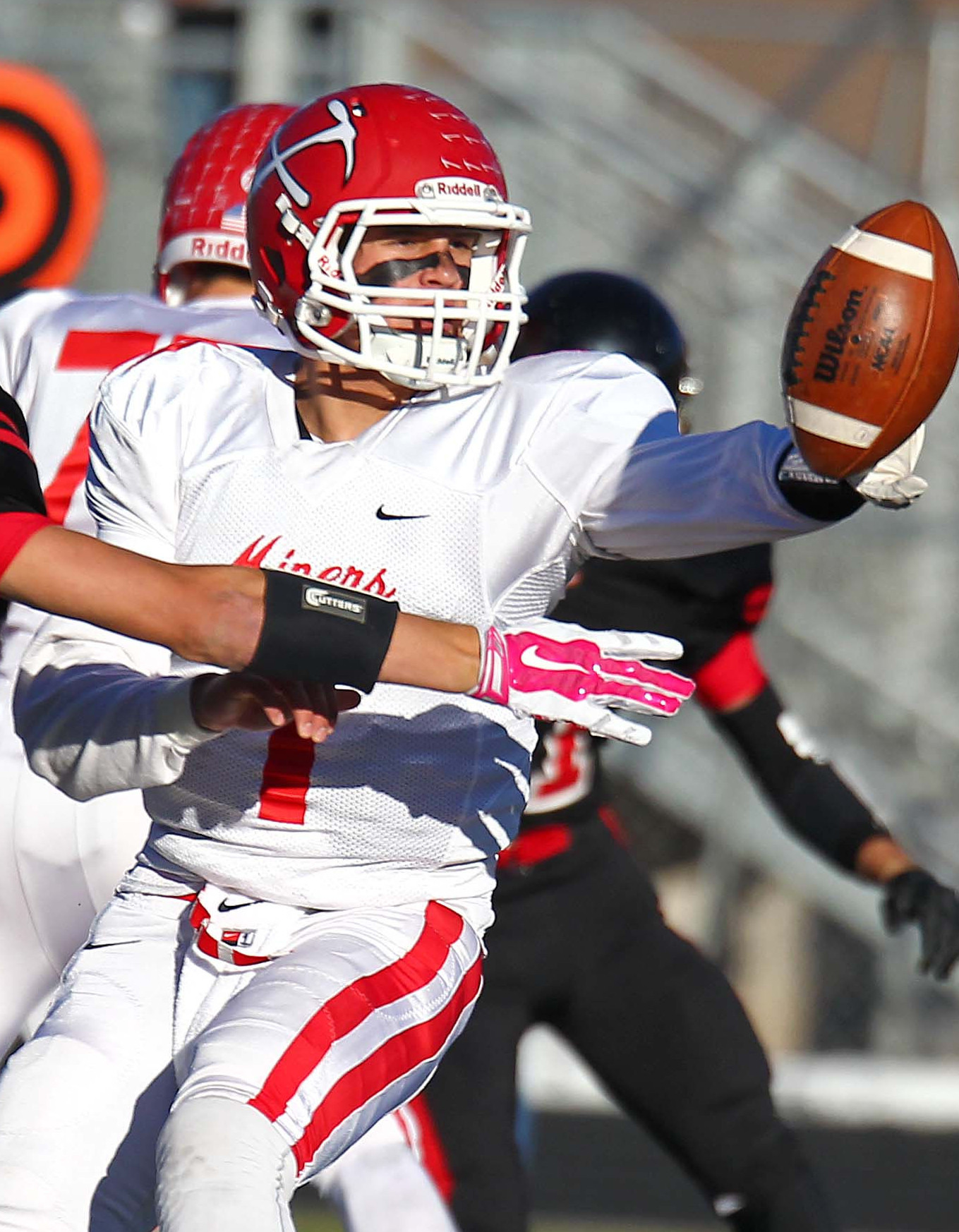 Park City's Spencer Zur made up for four interceptions by passing for 414 yards and three TDs Friday night. | File photo by Robert Hoppie